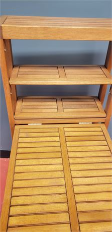 Folding small wall table and 2 chairs