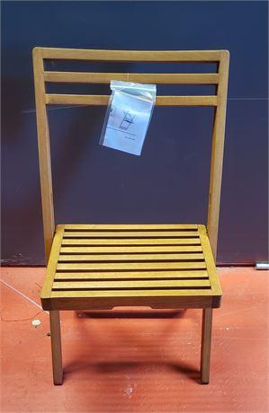 Folding wide slat chair