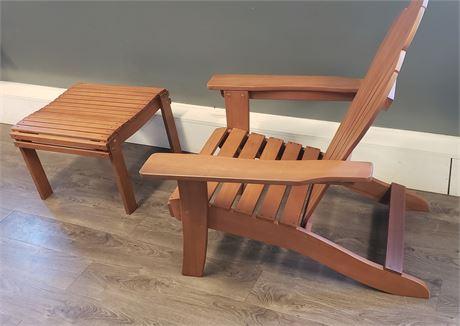 Adirondack chair and stool